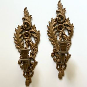 1962 Burwood Products Wall Candle Sconces
